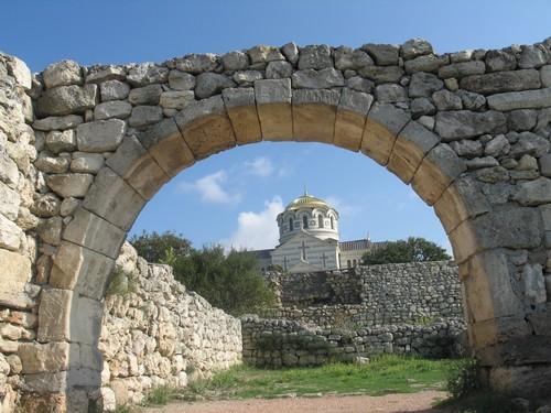 Khersones ancient greek town in Crimea