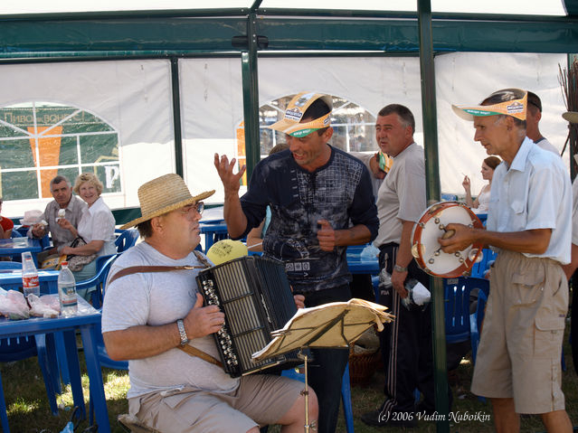 Ukraine street musicians entertain people at fairs and in market places